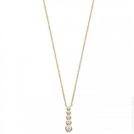5 White zirconium 18k gold platted necklace