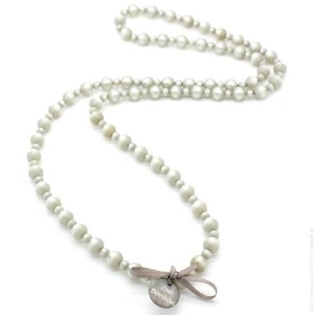 Greige Gabrielle long necklace by Zoe Bonbon