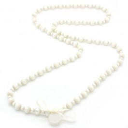Ivory Gabrielle long necklace by Zoe Bonbon