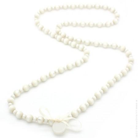 Sautoir Gabrielle nacré ivoire