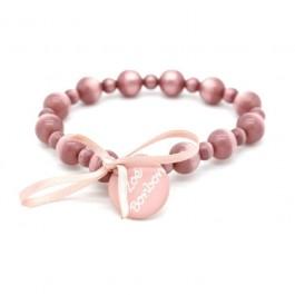 Old pink Gabrielle pearly beads bracelet Zoe Bonbon