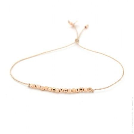 Bracelet lurex pépites plaqué or rose