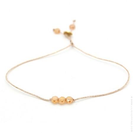 Copper crystal beads bracelet