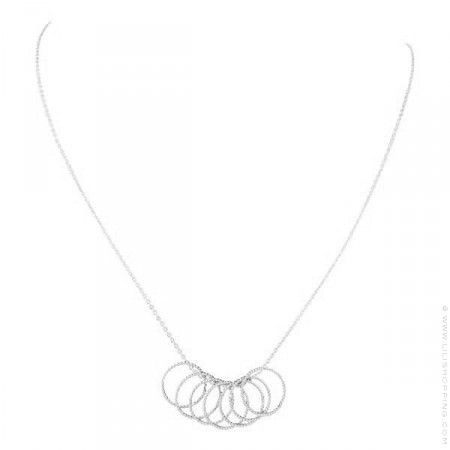 Silver 3 Ring Necklace