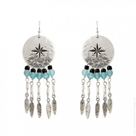 Boucles d'oreilles Hipanema Caline silver