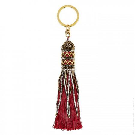 Balma burgundy bag charm - keychain