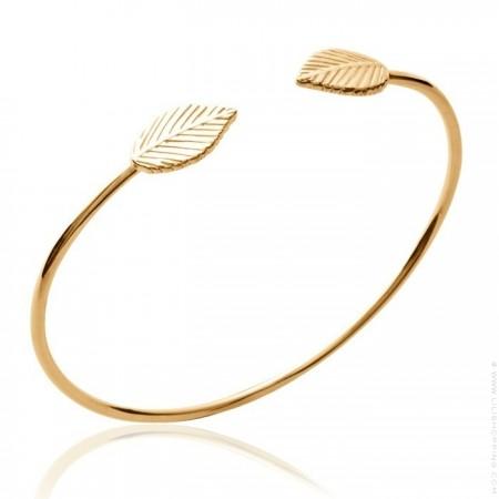 Gold platted leaf bangle