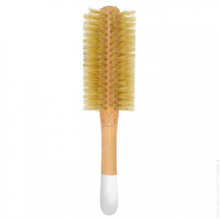 Natural wooden round brush