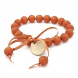 Rust mini beads bracelet Zoe Bonbon