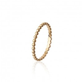 Gold platted beaded ring