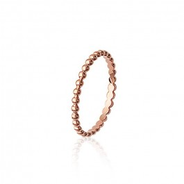 Pink gold platted beaded ring