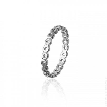 Silver openwork ring