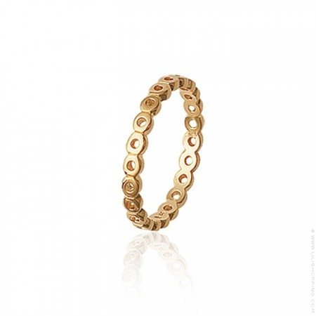 Gold platted openwork ring