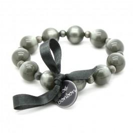 Bracelet Coco nacré gris foncé