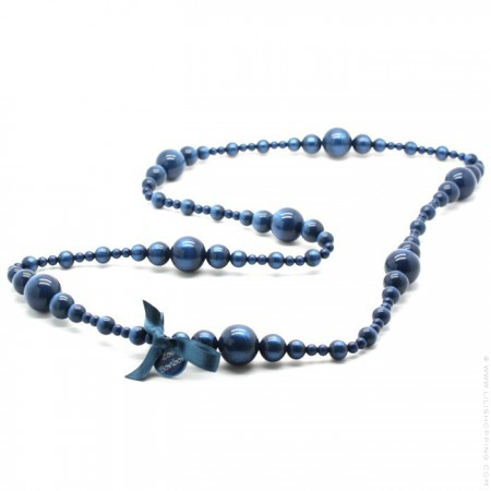 Navy Coco long necklace by Zoe Bonbon