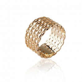 Gold platted chains ring