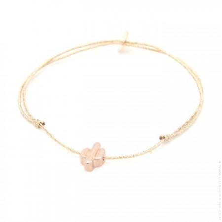 Pink gold platted on a lurex Bracelet