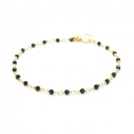 India gold plated bracelet with black spinel