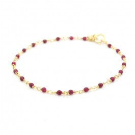 India gold plated bracelet with purples rubis