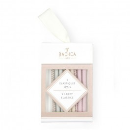 Set of 9 pastel thick elastics