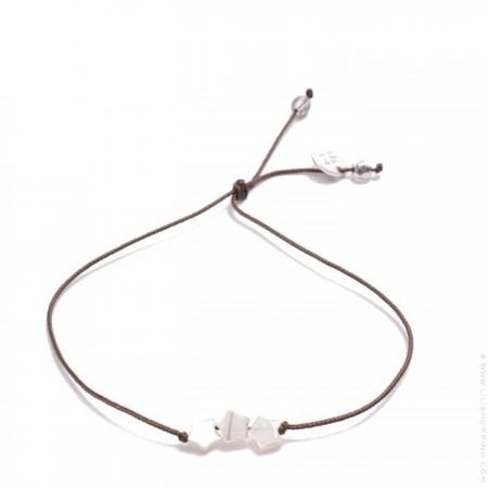 Bracelet 3 étoiles nacre blanche