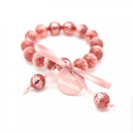 Bracelet enfant pailleté rose