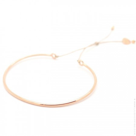 Bracelet jonc plaqué or rose sur lien lurex