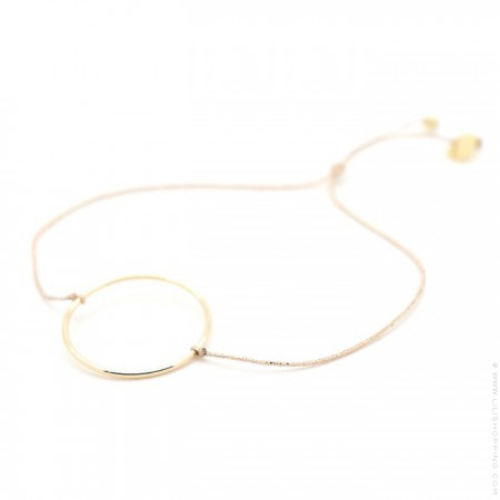Gold Plated circle Cord Bracelet
