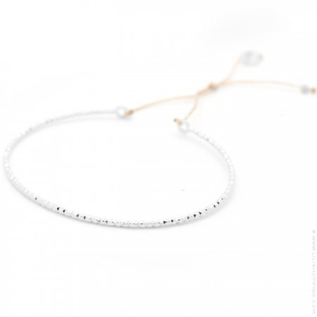 Silver diamond effect bangle