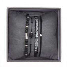 Black ultra fine rocks bracelets