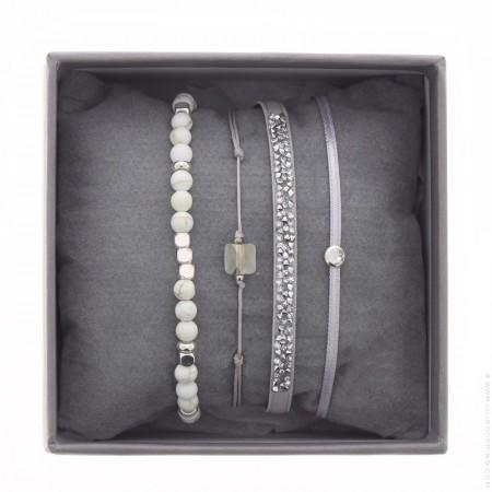 Grey ultra fine rocks bracelets