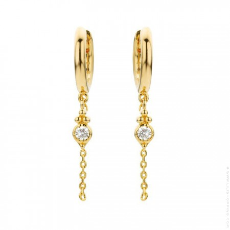 North star gold platted earrings