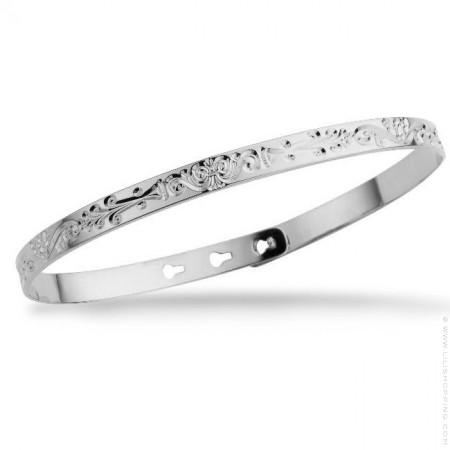 Arabesque silver platted bracelet