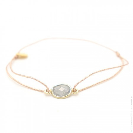 Labradorite gold plated cabochon bracelet