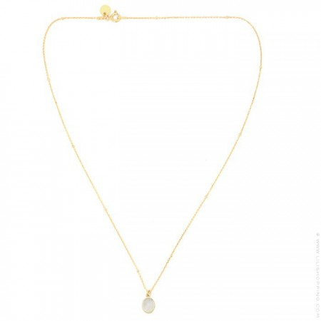 Gold plated necklace with moonstone cabochon