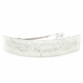 Silver large hair clip