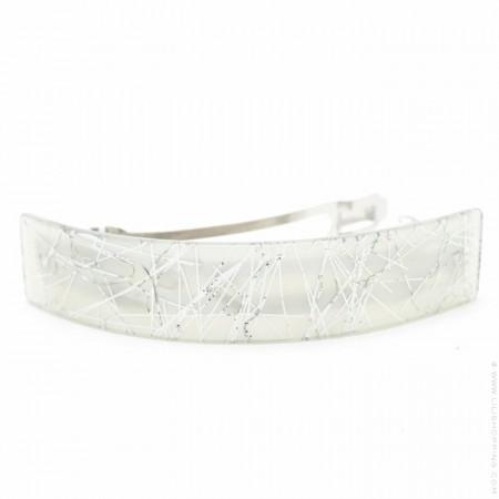 Silver thin hair clip