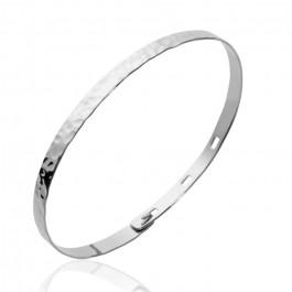 Sterling silver hammered bracelet
