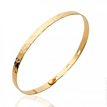 Gold platted hammered bracelet