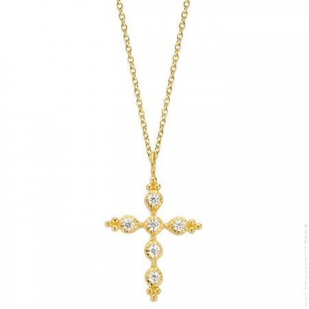 Sevilla cross Gold platted necklace
