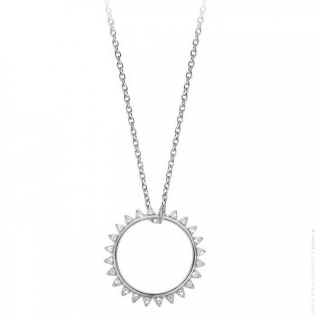 Sunset Silver platted necklace