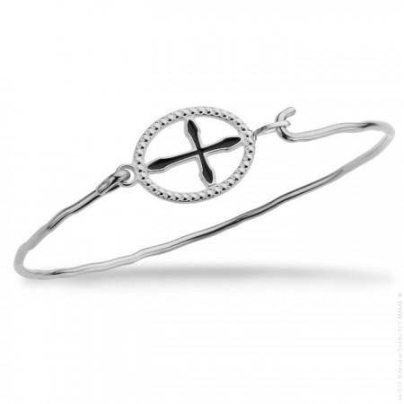 Girona cross silver platted bracelet