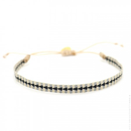 Bracelet Argentinas beige gris noir