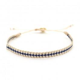 Bracelet Argentinas beige et triangles bleus