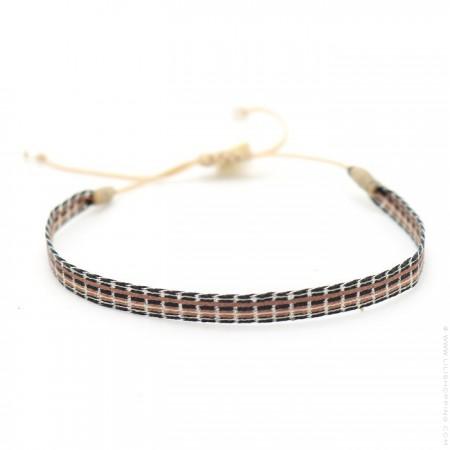 Bracelet Argentinas noir et moka