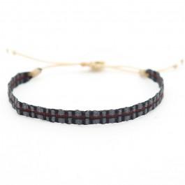 Bracelet Argentinas anthracite et rouge