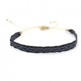 Argentinas black, grey and blue bracelet