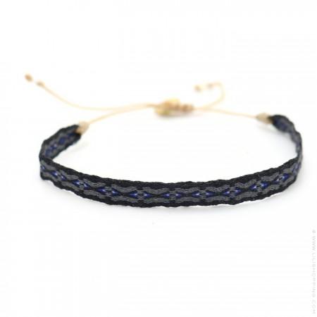 Bracelet Argentinas noir, gris et marine