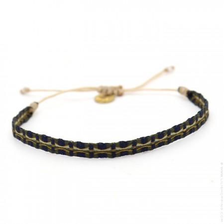 Argentinas bleu marine et kaki bracelet