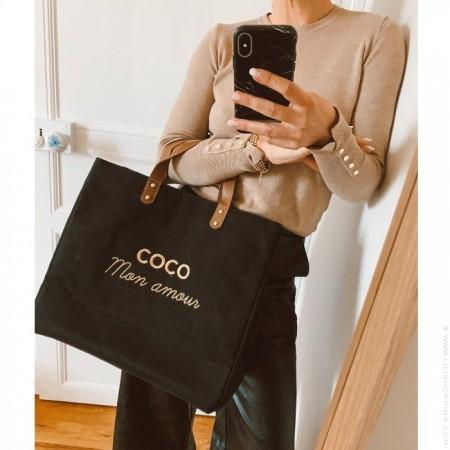 Le Mademoiselle bag Coco mon amour gold glitter